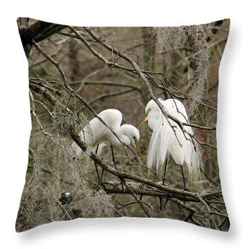 Doting Couple Throw Pillow