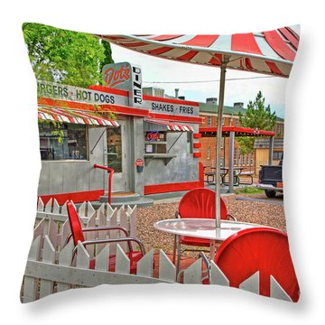 Dot's Diner In Bisbee Arizona Throw Pillow