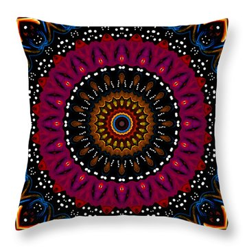 Dotted Wishes No. 5 Kaleidoscope Throw Pillow by Joy McKenzie