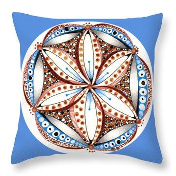 Dotted Zendala Throw Pillow