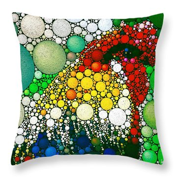 Throw Pillow featuring the digital art Dotty Doodle Doo by Mark Taylor