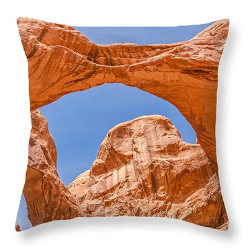Double Arch At Arches National Park Throw Pillow