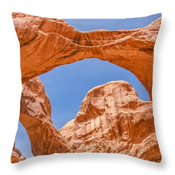 Throw Pillow featuring the photograph Double Arch At Arches National Park by Sue Smith