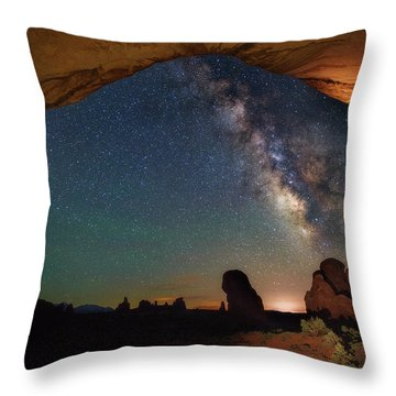 Double Arch Milky Way Views Throw Pillow by Darren White