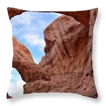 Throw Pillow featuring the photograph Double Arch With Curves by Bruce Gourley