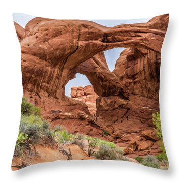 Double Arches, Arches National Park Throw Pillow