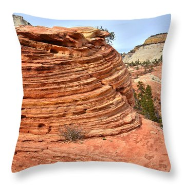 Double Beehive Throw Pillow
