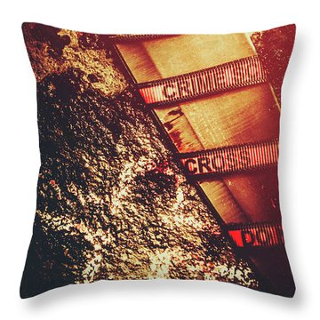Double Crossing Crime Scene Investigation Throw Pillow