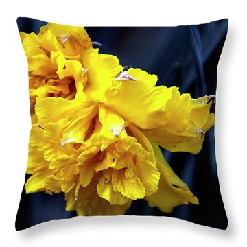 Double Daffodil Throw Pillow by Svetlana Sewell