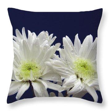 Double Dahlia Throw Pillow