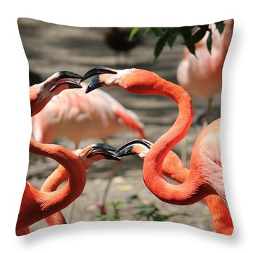 Double Date Throw Pillow