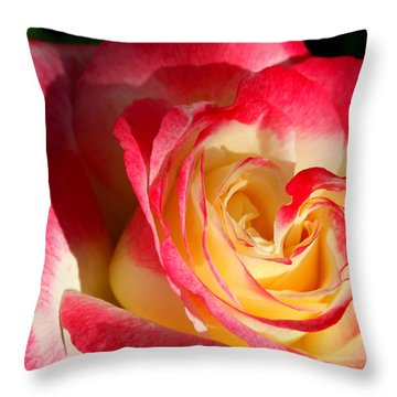 Throw Pillow featuring the photograph Double Delight II by M Diane Bonaparte