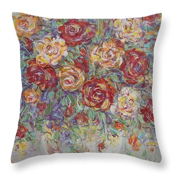Throw Pillow featuring the painting Double Delight. by Natalie Holland