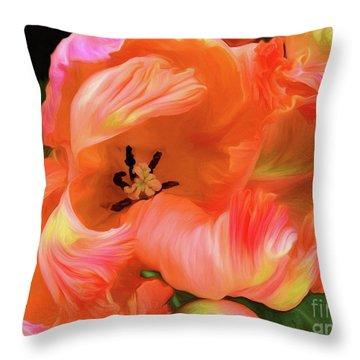 Double Dutch Tulips Throw Pillow