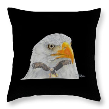 Double Eagle Throw Pillow by Bill Richards