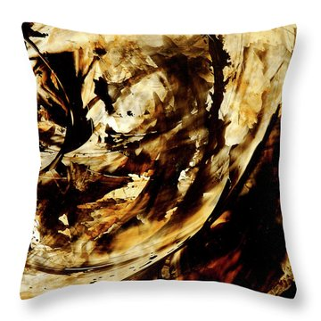 Double Espresso Throw Pillow by Sharon Cummings