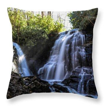 Double Falls Throw Pillow