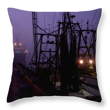 Throw Pillow featuring the photograph Double Parking by Laura Ragland