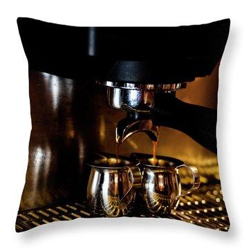 Double Shot Of Espresso 2 Throw Pillow