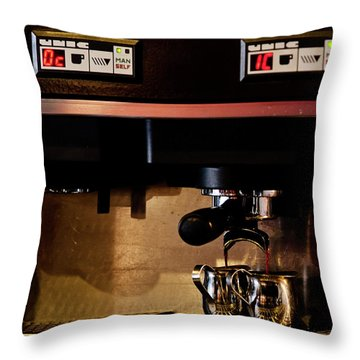 Double Shot Of Espresso Throw Pillow