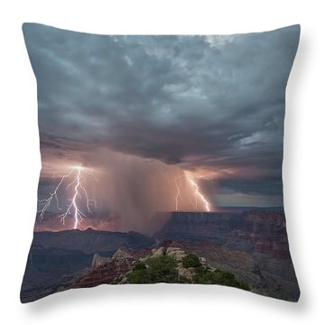 Double Strike Canyon Throw Pillow