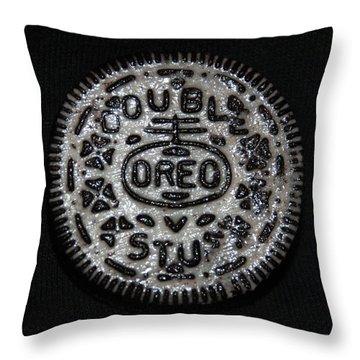 Double Stuff Oreo Throw Pillow by Rob Hans