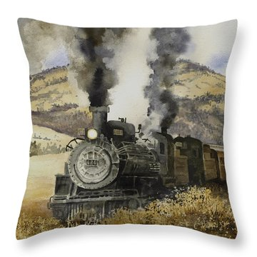 Double Teamin To Cumbres Pass Throw Pillow