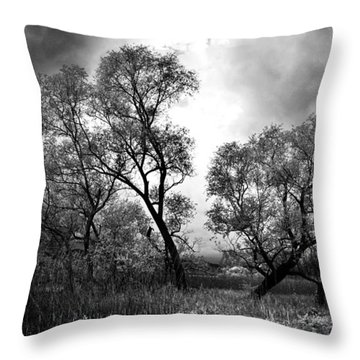 Double Tree Throw Pillow