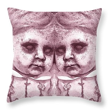 Double Trouble Two Throw Pillow
