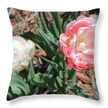 Double Tulip Throw Pillow