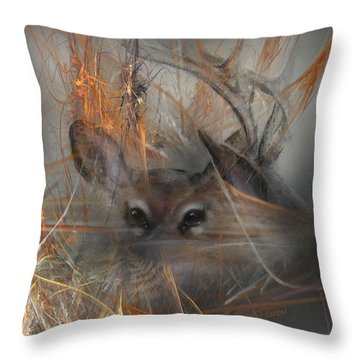 Double Vision - Look Close Throw Pillow