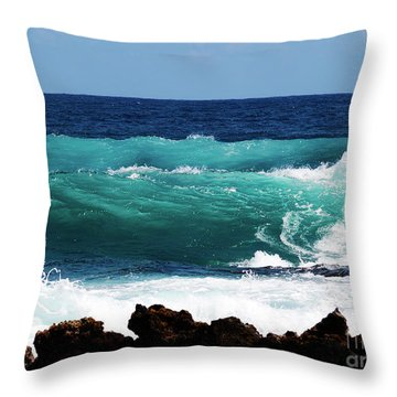 Double Waves Throw Pillow