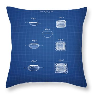 Doublet Stone Patent From 1873 - Blueprint Throw Pillow