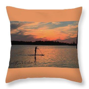 Doug Hobson, Red Rock Lake Throw Pillow