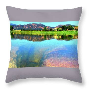 Throw Pillow featuring the photograph Doughnut Lake by Eric Dee