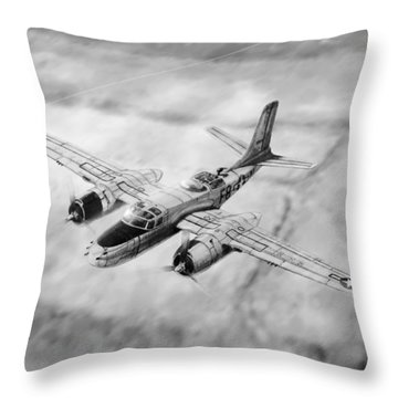 Douglas A-26 Invader Throw Pillow