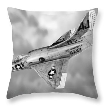 Douglas A-4c Skyhawk Throw Pillow