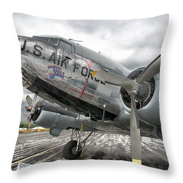 Douglas C-47 Skytrain Throw Pillow