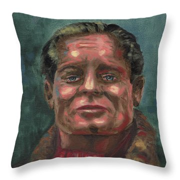 Douglass Bader Throw Pillow