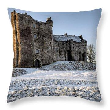 Doune Castle In Central Scotland Throw Pillow