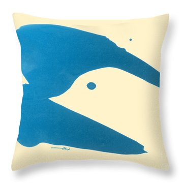 Dove Head Throw Pillow