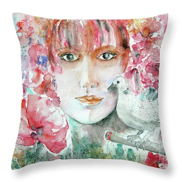 Dove Throw Pillow by Jasna Dragun