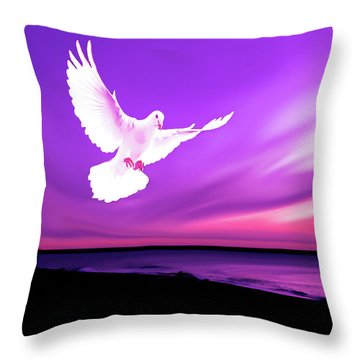 Dove Of My Dreams Throw Pillow by Eddie Eastwood