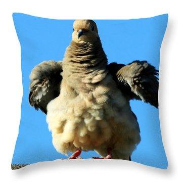 Dove On Steroids I Throw Pillow