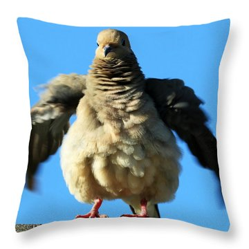 Dove On Steroids II Throw Pillow