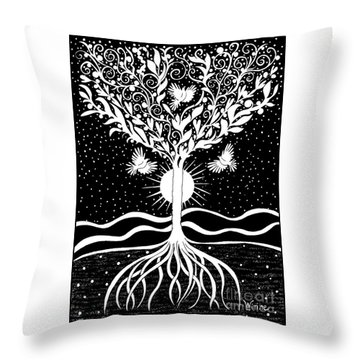 Dove Tree Throw Pillow