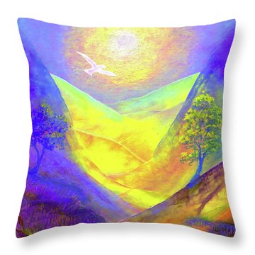 Dove Valley Throw Pillow by Jane Small