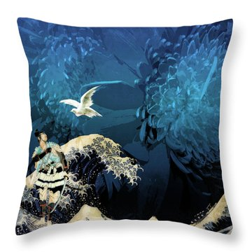 Dove Vision Throw Pillow