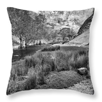Dovedale, Peak District Uk Throw Pillow by John Edwards