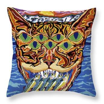 Dover Cat Throw Pillow by Robert SORENSEN